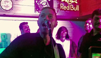 Chris Martin -- Pops Indian Concert Cherry in Tiny Cafe (VIDEO)