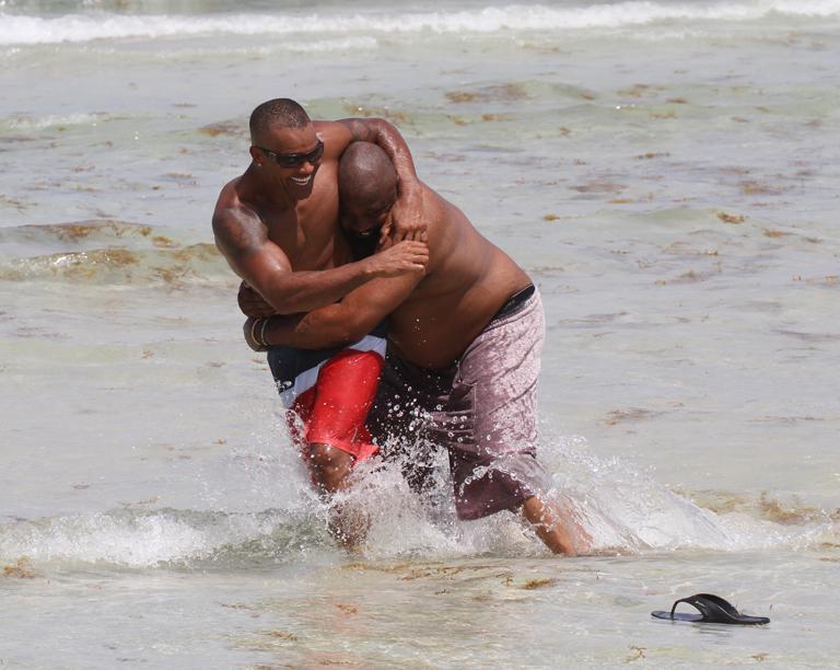 shemar moore gay beach hawaii