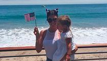 Kourtney Kardashian -- Patriotic Pose During Perilous Fight with Scott Disick