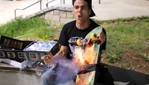 Steve-O -- Launches Bottle Rocket ... OFF