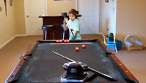 Billiards Trick Shots -- This Kid