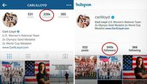 Carli Lloyd -- Instagram Explodes After Hat Trick ... 100,000 New Followers