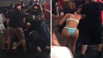 Hulk Hogan's Bar -- Big Booty Babe in Huge Bar Fight (