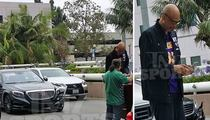 Kareem Abdul-Jabbar -- Car Crash at UCLA ... Wearing Lakers Jersey