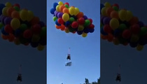 Up Up And Away … Canadian Man Gets Airborne With Balloons An