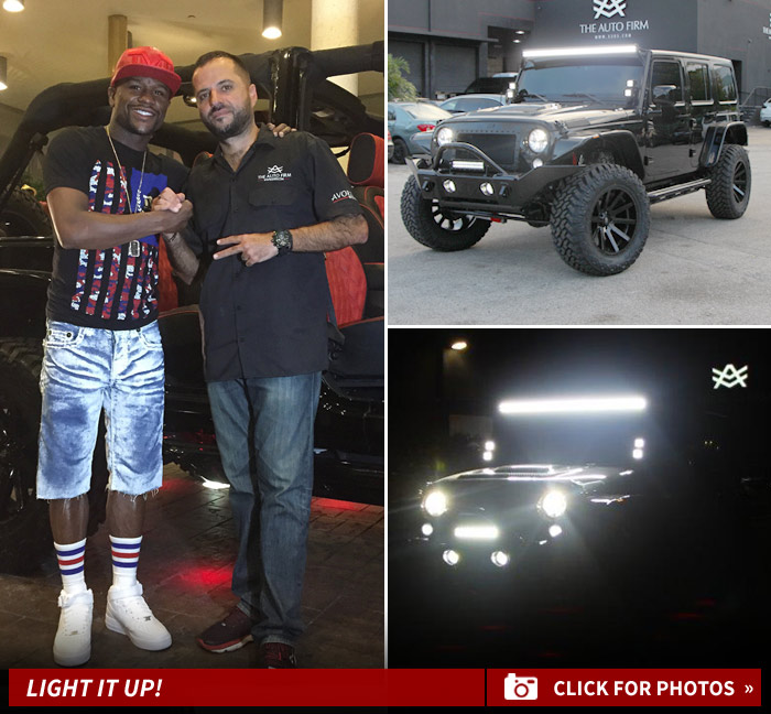 Floyd Mayweather -- Drops $100K On One-Of-A-Kind Jeep