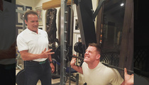 Arnold Schwarzenegger -- Best Buddies Lifting Sesh ... With J.J. Watt