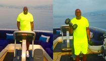 Magic Johnson -- On a Treadmill ... On a Yacht ... In France