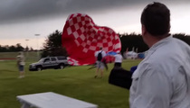 Out-of-Control Hot Air Balloon Takes Out SUV (VIDEO)