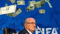 FIFA's Sepp Blatter Caught In Flash Storm -- See The Pouring Pics!