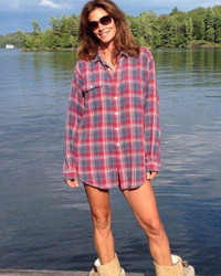 Cindy Crawford Flaunts Tanned and Toned Legs on Family Vacation -- See The Fun Photos!