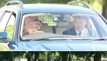 Queen Elizabeth -- Guilty of DWQ ... Driving While the Queen (PHOTO)