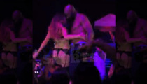 Jerry Rice -- Topless Dancing with Hot G-String Model (Video)