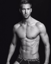 Calvin Harris Poses In Nothing But His Underwear In New Emporio Armani Ad