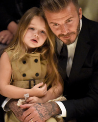 David Beckham Gets Sweet New Tattoo for Daughter Harper