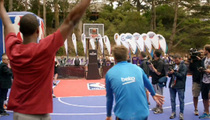 Gerard Pique -- Soccer Star Hits Half Court NBA Shot