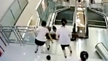 Heroic Woman Saves Her Son's Life After Freak Escalator Accident
