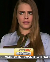 Cara Delevingne Is Not Amused During Interview For 'Paper Towns' -- See Awkward Video!