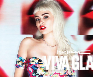 Miley Cyrus Rocks Long Platinum Blonde Wig, Short Shorts for New MAC Campaign