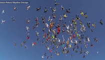 Skydivers Set CRAZY World Recor