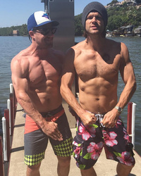 Abs for Days! Stephen Amell & Jared Padalecki Flash Shredded Six-Packs