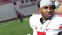 Braxton Miller -- One Handed Catch ... While Holding 5 Footballs [Video]
