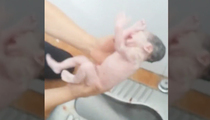 Brace Yourself ... Newborn Baby Pulled Out Of Toilet In Chin