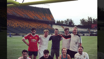 Mumford & Sons -- We Won't Wait ... for Pickup Soccer Game (PHOTO)