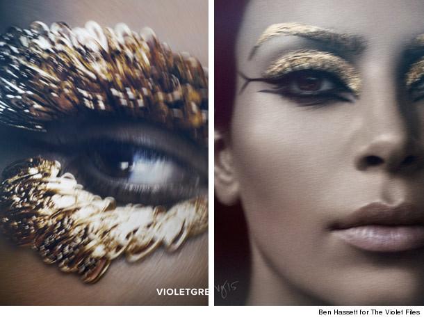 kim kardashian transforms into cleopatra for elizabeth
