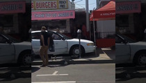 Pink's Hot Dogs -- Car Crashes Onto Sidewalk of L.A. Landmark (VIDEO)