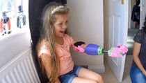 Helping Hand -- 8-Year-Old Girl Uses Prosthetic Arm For The First Time