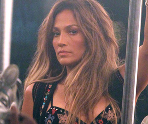 Jennifer Lopez Shows Tons of Cleavage In Crop Top & Short-Shorts on Set of New Music Video