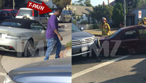 T-Pain Wrecks Aston Martin -- Blame It On the O-O-O-Other Driver (PHOTOS)