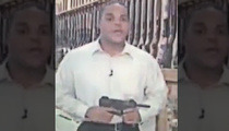 Bryce Williams -- Holding Submachine Gun In News Report