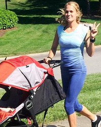 Carrie Underwood Shows Off Slim Post-Baby Bod While Running with Baby Isaiah