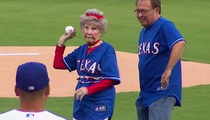 Adorable 103-Year-Old Woman ... Tosses Out First Pitch For Texas Rangers