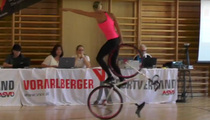 Bicycle Tricks--This Girl is KILLING IT on Her Bik