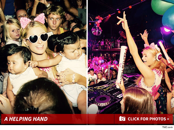 Paris Hilton Joe Jonas -- I Can Eat Turtle Pizza and DJ ... At the Same Time!!! (VIDEO) Donald Trump -- DJ Learns Art of the Deal ... I Got Your Slogan Right Here! Paris Hilton -- Ibiza's Missed My Ass ... Let the Foam Begin! (PHOTOS)