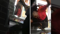 Fast Food Fight -- Girl Pulled From Drive-Thru Window By T