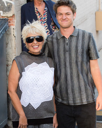 Roseanne Barr Makes Rare Appearance With Son Buck In L.A.