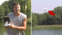 The Future Of Fishing -- Snags Fish With A Drone (VIDEO)