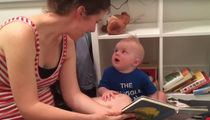 Adorable Bookworm -- Baby Cries Every Time A Book Ends (VIDEO)