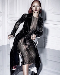 Rihanna Shows Off Killer Curves In Sexy Sheer Mesh Dress For Dior