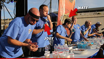 Joey Chestnut -- DEFEATED AGAIN ... Stonie Crushes Champ At Rib Cook-Off