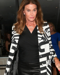 See Caitlyn Jenner's Fierce Leather Look on Girls' Night -- and Watch Her Get Grilled on Gay Marriage by Ellen!