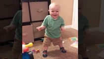 Squeaky Clean Fun -- Baby Laughs Every Time Shoes Squeak (VIDEO)
