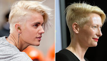 Justin Bieber & Tilda Swinton -- White Hot Hair Twins ... We're Just Sayin'!
