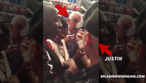 Justin Bieber -- Standoff with Security After Mayweather Fight ... Don't Make Me Cuff You!! (VIDEO)