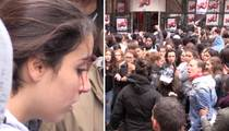 Justin Bieber -- Bloody Girl Fight as French Fans Rally (VIDEO)
