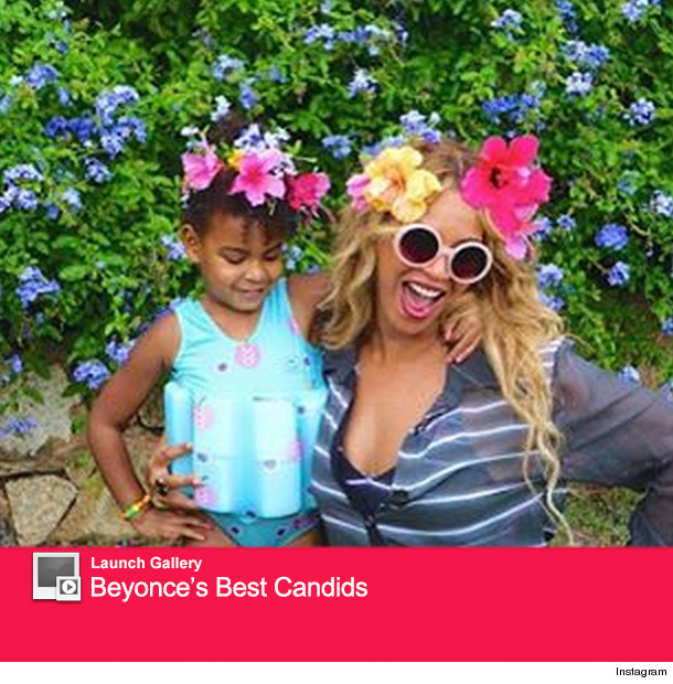 beyonce posts rare photo of blue ivy on vacation shes